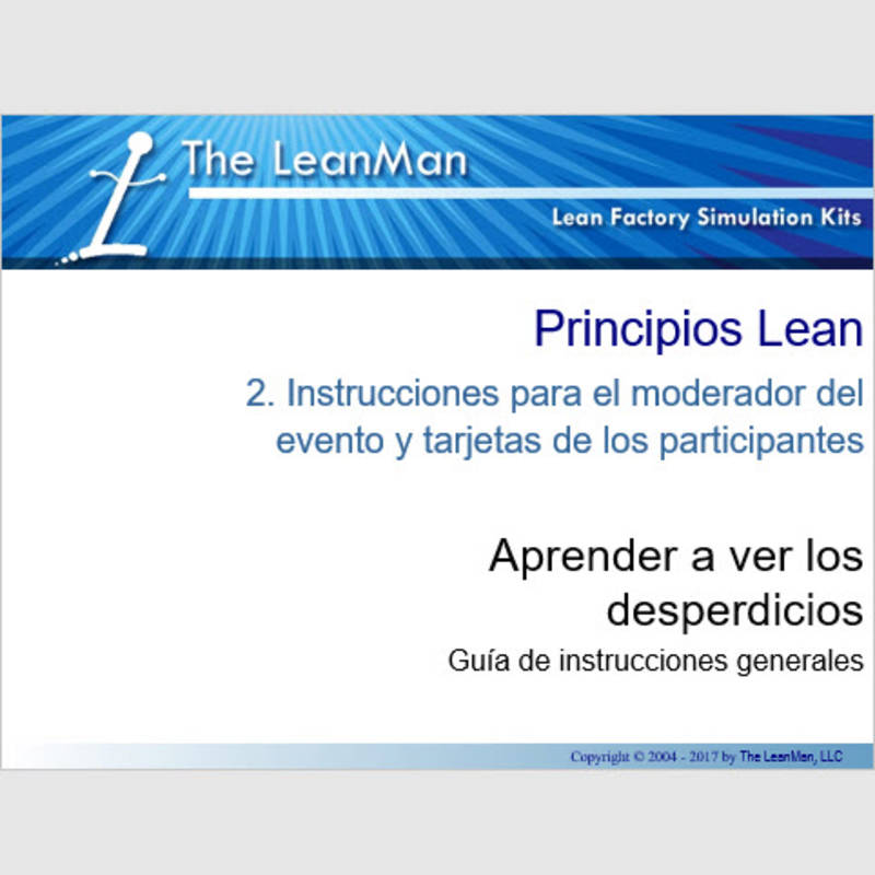 Spanish - Learning to See the Waste Participant Handbook